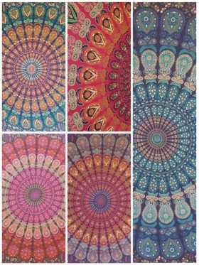 Peacock-Mandala-Wall Hanging-Throw-Tapestry-Bed Sheet-100% cotton-Fair Trade-Tapestries-India