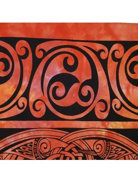 Celtic-Tree of Life-Tapestry-Wall Hanging-Throw-Bed Sheet-Fair Trade-100% cotton-Tapestries-orange-black