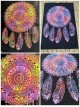 Dream Catcher-Wall Hanging-Tapestry-Throw-Bed Sheet-100% Cotton-Tie Dye-Fair Trade