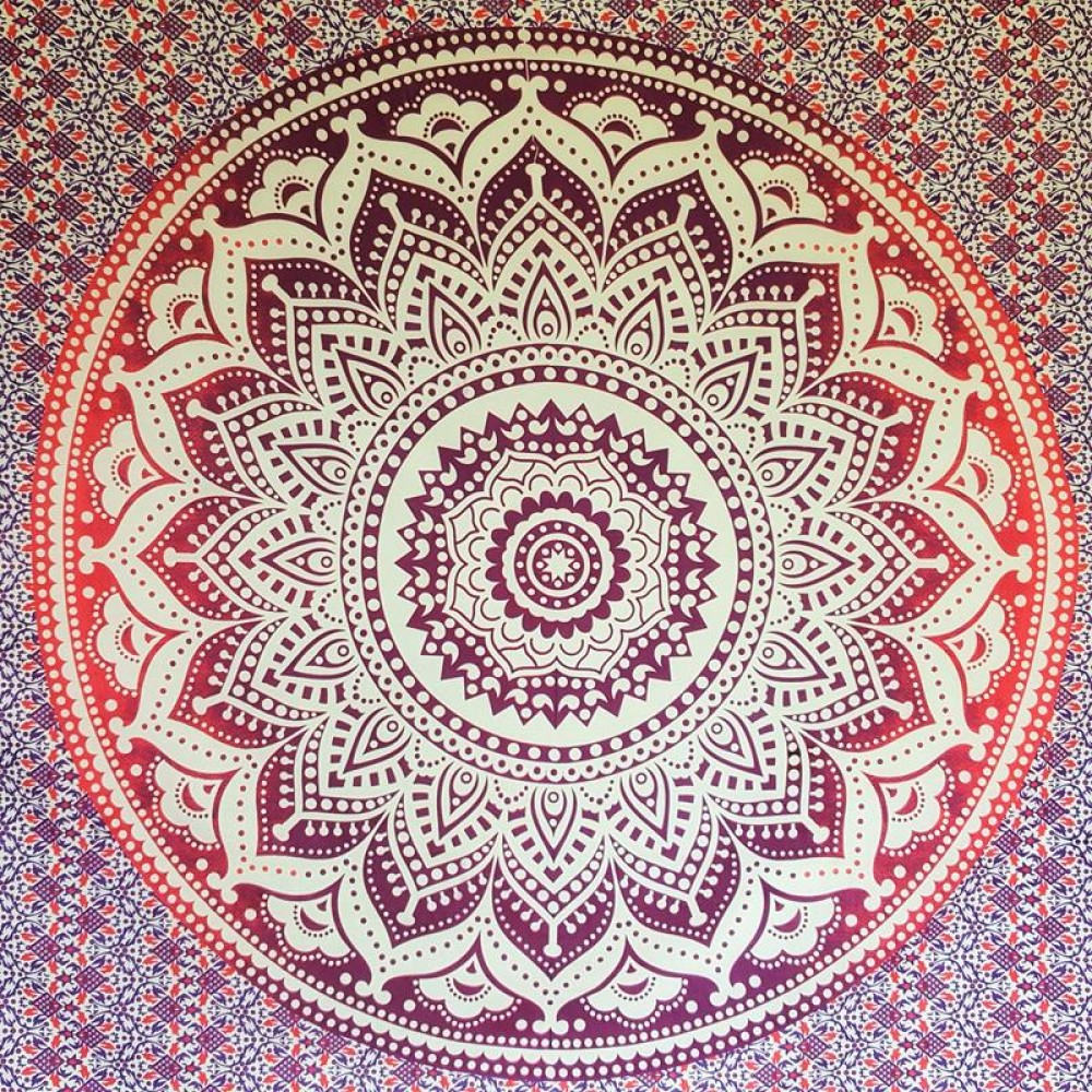 Pink Wall Tapestry purple pink white - lotus flower- wall hanging-tapestry-throw