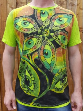 Eye - Flower - Mirror - T-Shirt  - White - 100% cotton