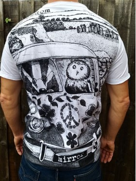 Camper - Peace - The Badger & the Owl - Mirror - T-Shirt  - White  - 100% cotton