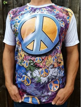 Peace Sign - Mirror - T-Shirt  - White  - 100% cotton