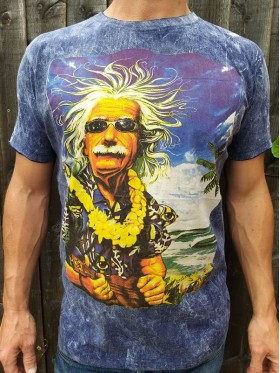 Albert Einstein - Hawaii - Ukulele - No Time -  T-shirt - 100% cotton