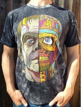 Frankenstein-No Time-T-shirt-100% cotton