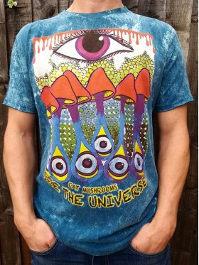 See the Universe - Eat Mushrooms - No Time - T-shirt - 100% cotton