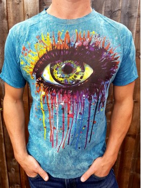 Eye - painting - No Time -  T-shirt - 100% cotton