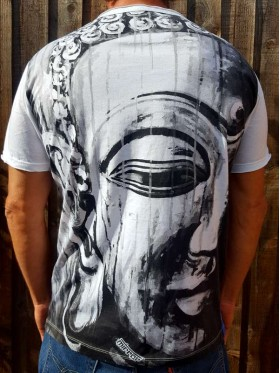 Buddha - Painting - Mirror - T-Shirt  - White