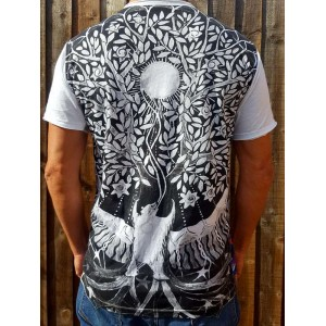 Bear and the Tree of Life  - Mirror - T-Shirt  - White